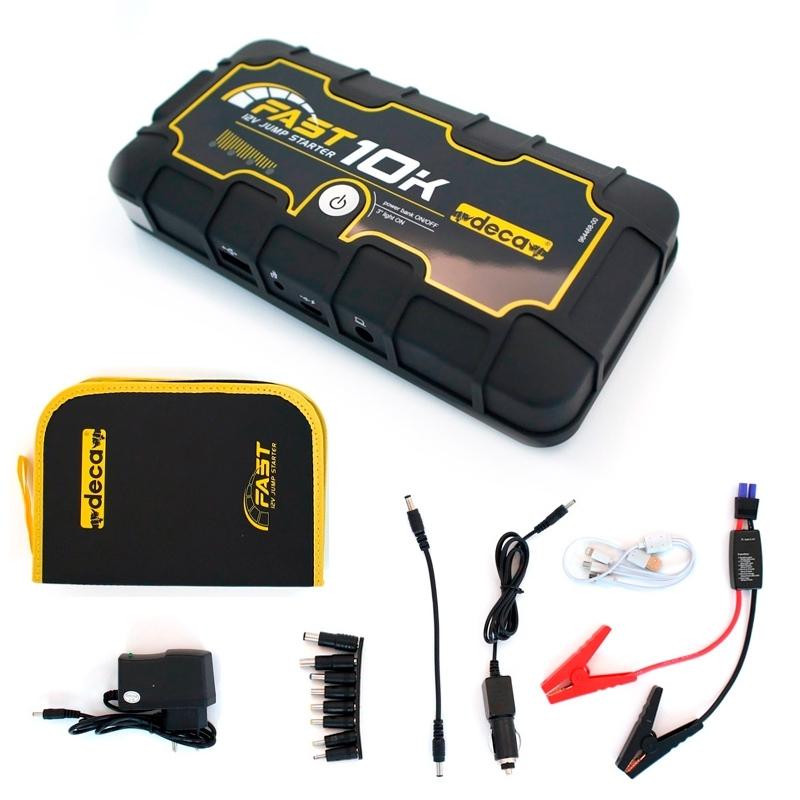 Deca FAST 10K - Démarreur de batterie pour urgence 10000 mAh